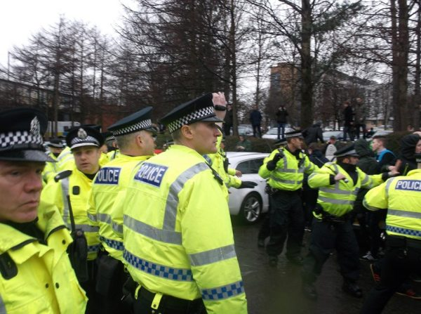 There were several reports of police using batons on marchers (Picture courtesy of TCN)